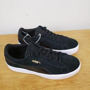 Puma 9 Black & Gold Suede Shoes